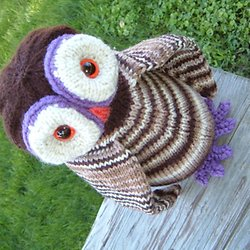 Free knitting patterns stuffed animals toys pearltrees ollie oowl knitting pattern dt1010fo
