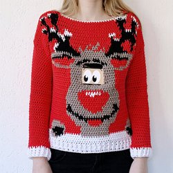 4c210cced35 Digital Reindeer Christmas Sweater - free crochet pattern by Wilmade