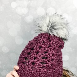 Crochet Frosted Berry Chunky Hat - Free Pattern 3df9ee822061