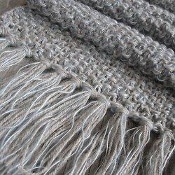 tricoter une echarpe au point d'astrakan