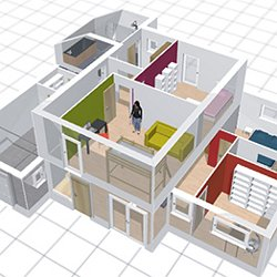 Plan maison 3d kozikaza for Plan 3d amenagement interieur