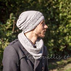 Le tuto du mois de décembre  bonnet et snood pour homme…. c est cadeau !  … bd777163df7