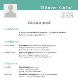 Exemple de CV educateur sportif