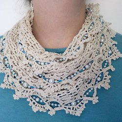 Lacy Infinity Scarf, my free crochet pattern | Pearltrees