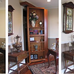 DIY Rotating Bookshelves Staircases And Trap Doors