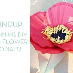 Sarah hearts diy paper plate basket tutorial pearltrees 7 stunning diy paper flower tutorials curbly diy mightylinksfo