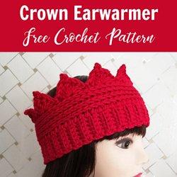 e73496dbbb5 Crochet Crown Ear warmer Free Pattern - Crochet For You