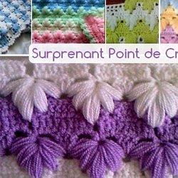 1005 Points Au Crochet Tricot Apprenez à Travailler Avec