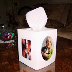 Picture Frame Tissue Box Cover