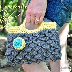 Crochet Crocodile Stitch Tutorial  part 1 of 2 . knit cactus 3990436b88e7