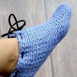 chausson de nuit tricot