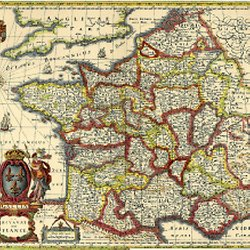carte de france 1750