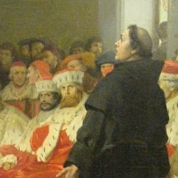 """the 95 theses definition 2 the 95 theses by martin luther 1 when our lord and master jesus christ said, """"repent"""" (mt 4:17), he willed the entire life of believers to be one of repentance."""