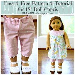 4ecf39146 Sleeveless Jumper Pattern for American Girl, AG Type 18 Inch Dolls ...