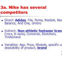 nike direct and indirect competitors