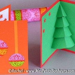 Carte 3D Noël: pop up sapin à imprimer, découper, décorer