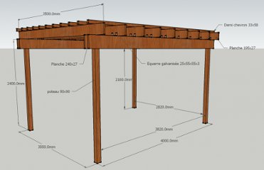 Am nagements ext pearltrees Faire une pergola en bois