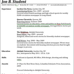 Top 10 Ideas To Build A Strong Resume For Media And