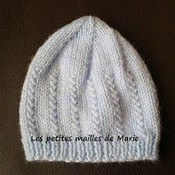 a68e3cc30dc4 Les petites mailles de Marie  Bonnet pour bébé prématuré de 32 semaines au…  Tricot Layette – Chaussons citrouille ou hollandais   patchcath