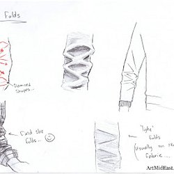 how to draw fabric folds tutorial by barbara bradley pearltrees