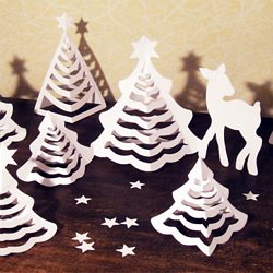 3d Paper Christmas Tree Template.S 3d Paper Christmas Trees Pearltrees