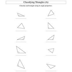 BAD: Classifying Triangles by Angle Properties (A) Geometry\u2026 Algebra Worksheet Generator